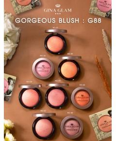 GINA GLAM GORGEOUS BLUSH G88 บลัชตกแต่งแก้มให้สวยงาม เนื้อฝุ่นผสมชิมเมอร์