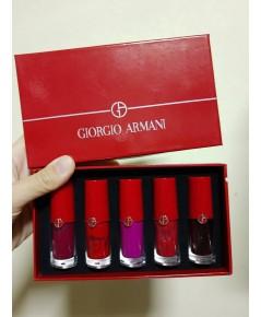 Giorgio Armani Liquid Lip Glaze Matte Five-piece ลิปเนื้อทิ้นท์แเพค 5 สีสันติดทนใช้ได้ทั้งแก้มและปาก