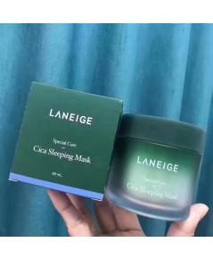 Laneige Cica Sleeping Mask มาสก์ลดสิวที่มีส่วนผสมของ cica กู้ผิวยามข้ามคืน 60 ml.