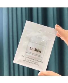 La Mer Moisturizing soft Cream ครีมเข้มข้นบำรุงล้ำลึก ขนาดทดลองซองใช้ต่อครั้ง (แพค 10 ชิ้น)