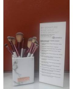 BH Cosmetics White Marble 9 Piece Brush Set with Holder 9 ชิ้นพร้อมกระบอกใส่แปรงลายหินอ่อนหรูหรา