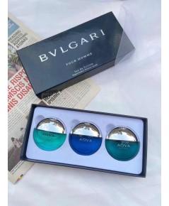 Bvlgari Aqva Pour Homme Travel Collection Miniatures Set น้ำหอมเทสเตอร์หัวฉีด 25ml.x3 ชิ้น