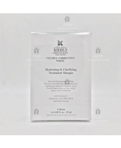 Kiehl\'s  Clearly Corrective White Hydrating  Clarifying Treatment Masque  mask pack 6 sheet