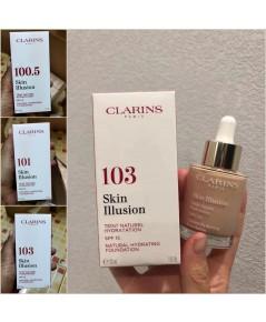 CLARINS  รองพื้น Skin Illusion SPF15 มี 3 เบอร์ ให้เลือก งานดีเยี่ยม