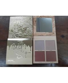 Kylie Jenner The Wet Set 4-color Bronzer  Highlighters Pressed Illuminating Powder Palette