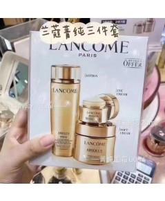 Lancôme Absolue exculsive set ชุดฟื้นฟูผิวอย่างหรูหรา 3 ชิ้นสีทอง
