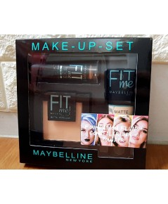 Maybelline Fit Me Makeup Set เซต 3 in 1 เมคอัพปรับสีผิวครบวงจรเซต แป้ง+บีบี+คอนซีลเลอร์สติ๊ก