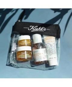 Kiehl\'s Calendula Travel Set 4 ชิ้น ชุดพกพาพร้อมกระเป๋า สำหรับทดลองใช้หรือเดินทาง