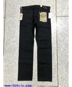 New RRL Slim fit super black ริมแดง W 34 L 32