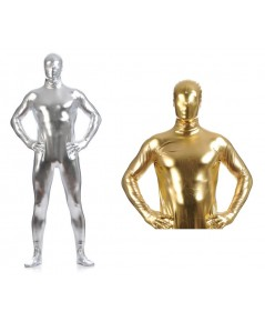 ชุดมิเนี่ยม ชุดอวกาศ  ผ้ามิเนี่ยม มีสีเงิน และทอง ผ้ายืดได้ มีคลุมหน้าด้วย