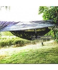เปลมุ้ง 2 in 1,+ฟลายชีทกันฝน,เปลมุ้งลายพราง,เปลมุ้ง,(Crib Mosquito),HAMMOCK WITH NET