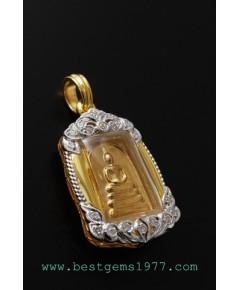 M564-2443 สมเด็จคะแนนทองคำ รุ่นชินบัญชรมหาจักรพรรดิ์ 142ปี สมเด็จพระพุฒาจารย์(โต)