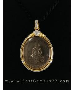 0181111A_BS งานรับสั่งทำกรอบกันน้ำ สำหรับบรรจุเหรียญจอมสุรินทร์ หลวงปู่ดูลย์