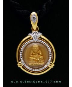 M767-2706 หลวงพ่อทวดเนื้อทองคำ รุ่นมหามงคลหลวงพ่อทวด 106ปี อาจารย์ทิม พิมพ์กลมเล็ก