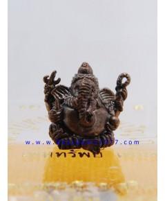 ELพระพิฆเนศจิ๋ว หลวงปู่หงษ์ วัดเพชรบุรี รุ่นเพิ่มทรัพย์ เพิ่มสุข ปี 2553 เนื้อสัมฤทธิ์รมดำ