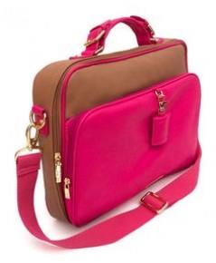 Test product กระเป๋า notebook หนังแท้สีชมพู