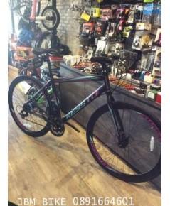 KEYSTO H200 จักรยานไฮบริด ราคาประหยัด สีดำ/ม่วง