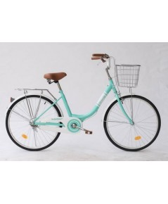 จักรยานแม่บ้าน WCI ขนาดล้อ24นิ้ว สีเขียว
