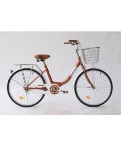 จักรยานแม่บ้าน WCI ขนาดล้อ24นิ้ว สีน้ำตาล
