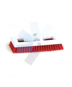 Cotswold.Hygiene Bristle Deck Scrub Brush Red