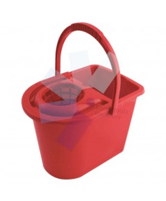 Cotswold.15ltr Plastic Mop Bucket Red