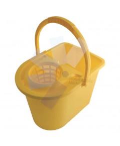 Cotswold.15ltr Plastic Mop Bucket Yellow