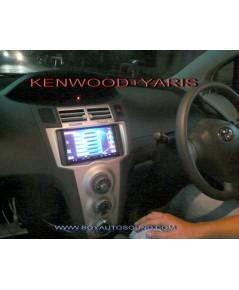 yarisลงตัวกับkenwood DDX7039สวยงามลงตัวครบครันความบันเทิงภายในรถยนต์