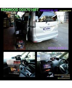 NISSAN SERENA ติด KENWOOD DDX7016BT wifi dongle KENWOOD KCA-WL100 เพื่อ mirroring หน้าจอบน smarphone