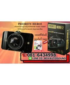 PRIORITY HERO2กล้องบันทึกเหตุการณ์ ชัดที่สุดทั้งกลางวันและกลางคืน super night vision