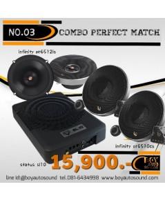 set no.03 combo perfect match 15,900.บาท  infinity PR series จับคู่กับ bass box 10นิ้ว status