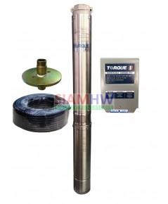 TORQUE ปั๊มบาดาล 1 HP 14 ใบพัด ท่อส่ง 1.5 นิ้ว TQ-SP-2BM14-4 (สำหรับบ่อ4-6นิ้ว)