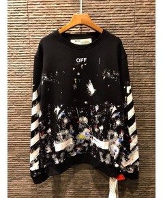 OFF White Galaxy Brush Sweater