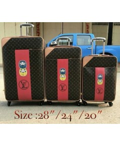 Louis vuitton super suitcase luggage travel bag 20 24 28 นิ้ว