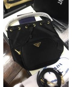 กระเป๋า  Prada Nylon Bucket bag. ดำ