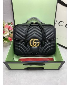 GG Marmont Leather  Chain Bag