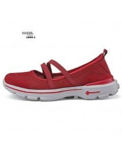 รองเท้าลำลองเพื่อสุขภาพผ้่าทอลาย มีรูระบายอากาศ ด้านในนิ่ม ใส่สบาย
