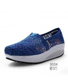รองเท้าลำลองเพื่อสุขภาพผ้่าทอตาข่ายอย่างดี มีรูระบายอากาศ