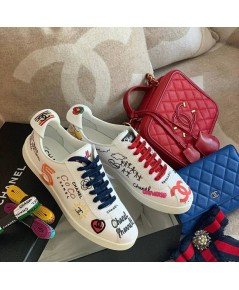 Chanel  X PHARRELL 19ss CAPSUL  Shoes หนังแท้