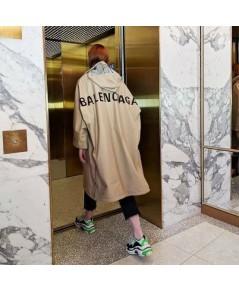 เสื้อ BALENCIAGA  OPERA SHELL RAIN COAT IN BROWN ผ้าเนื้อดี
