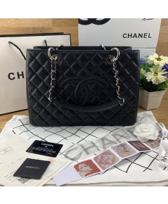 Chanel GST Caviar Leather Coco Bag  อะไหล่เงิน