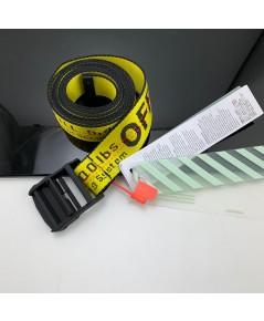 OffWhite canvas Transparent long belt