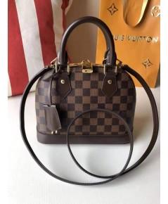Louis Vuitton Damier Alma BB Bag จิ๋วลายสก็อต