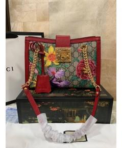 Gucci Padlock flora  bag