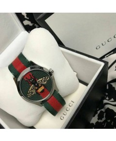 GUCCI Merveilles Red Green Nylon Strapแท้