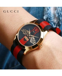 GUCCI -Timeless Blue and Red Dial แท้