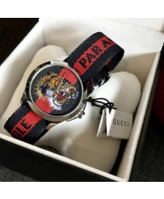 GUCCI WATCH Blue and Red Dial Unisex Watch แท้