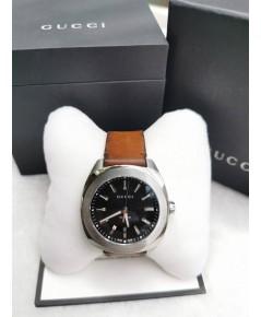 GUCCI WATCH GG2570 Watch สายหนัง สีดำ น้ำตาล  แท้
