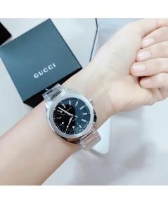 Gucci YA142401 -GG2570 Black Quartz Watch แท้