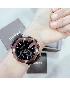 Gucci YA101202 Men\'s G-Chrono Black Quartz Watch หน้าปัด 44 มม.