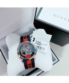 Gucci Le Marche Des Merveilles Blue and Red Dial Unisex Watch YA126495